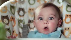 赤ちゃんのくるくる変わる表情、とっても可愛いね(動画)
