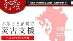 ふるさと納税、熊本県に1カ月で22億円