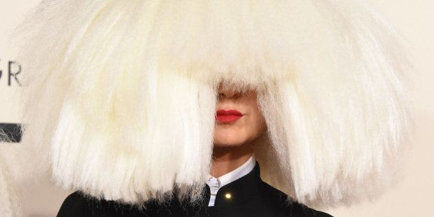 LOS ANGELES, CA - FEBRUARY 08: Sia arrives at the The 57th Annual GRAMMY Awards on February 8, 2015 in...