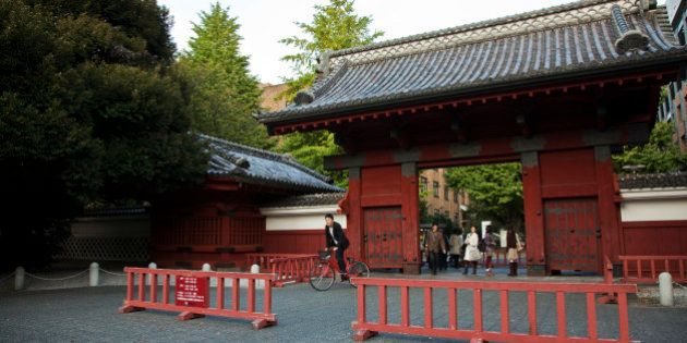 TOKYO, JAPAN - 2009/10/23: The elegant Akamon, a symbol of the University of Tokyo, is also an important...