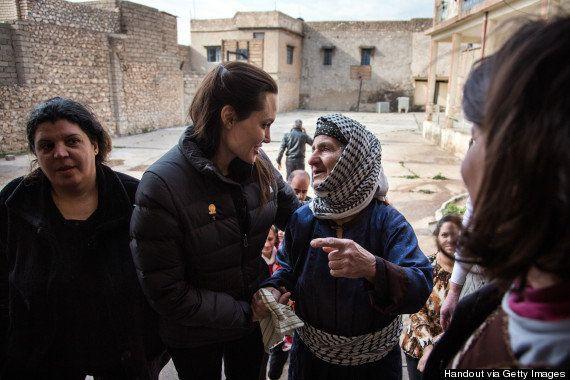 アンジェリーナ・ジョリー、ダーイシュ(イスラム国)に迫害された女性の苦しみを短編動画で訴える