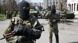 親ロシア派がウクライナ軍装甲車を手中に