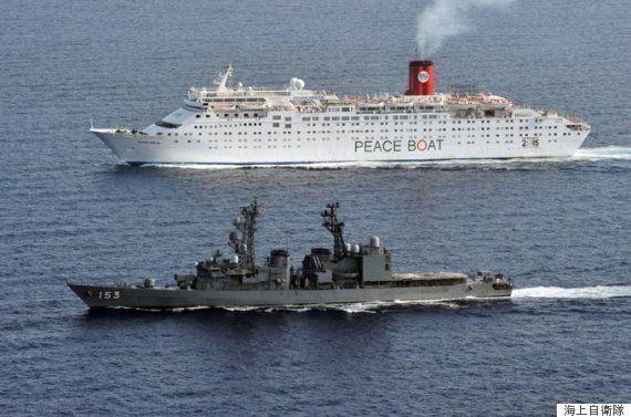 ピースボート、海上自衛隊の護衛でソマリア沖航海
