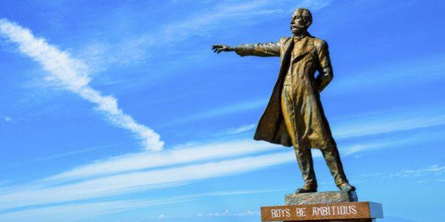 Professor Clark Statue in Sapporo