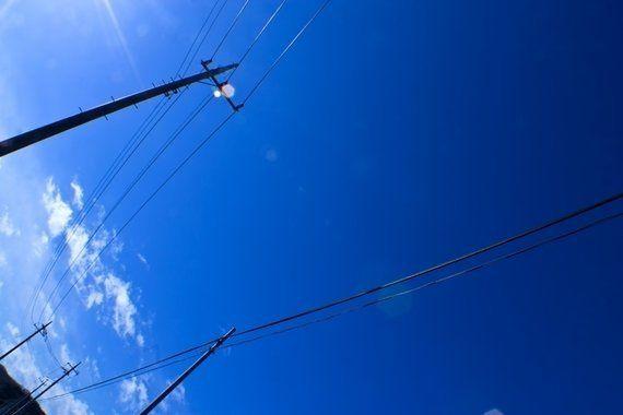 青空の下で。