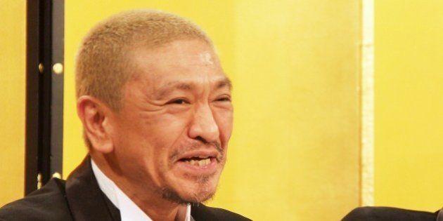 TOKYO, JAPAN - DECEMBER 4: Hitoshi Matsumoto and Masatoshi Hamada of comedy duo Downtown attend NTV year...