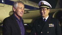 空母「遼寧」を米国防長官が視察 中国は軍事力の透明性をアピール
