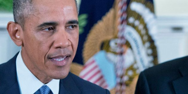 WASHINGTON DC - OCTOBER 15: U.S. President Barack Obama speaks about Afghanistan troop withdrawals in...