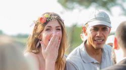オバマ大統領が結婚式に飛び入り参加 花嫁は喜びのあまり......(画像)