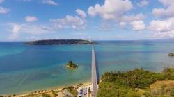 空から見る沖縄絶景スポット・古宇利大橋