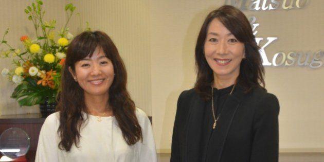 菊間千乃さん(左)と長野智子・ハフポスト編集主幹=東京都千代田区
