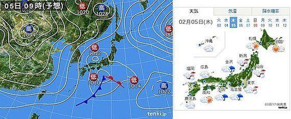 都心の積雪は先週以上になる恐れ 2月5日、関東で広く雪(堀江万喜)