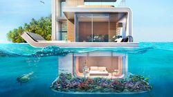 ついに「水に浮かぶ家」が誕生するよ。水中パノラマを楽しもう(画像集)