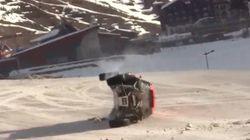 【動画】ジャンプの世界記録に挑んだドライバーの衝撃映像