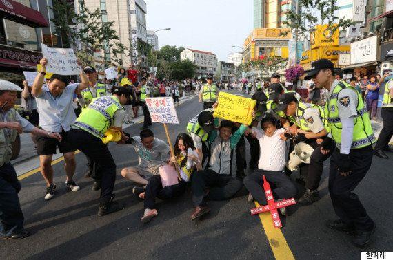 【LGBT】韓国の性的少数者の祭典を妨害する宗教団体 警察の対応は...