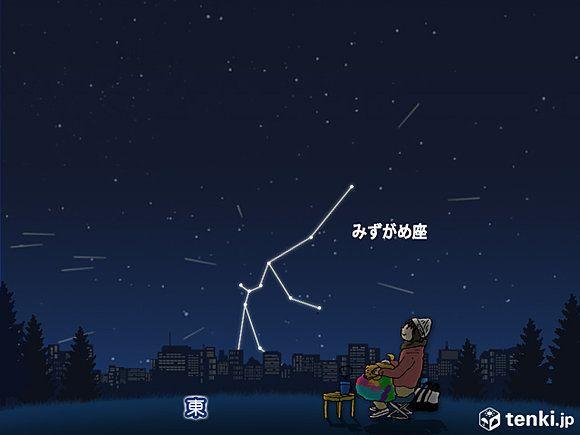 みずがめ座エータ流星群、5月6日早朝にピーク 各地の天気は?