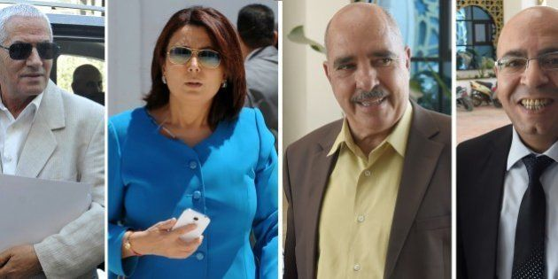 A combo of recent file pictures shows (LtoR) Secretary General of the Tunisian General Labour Union (UGTT)...