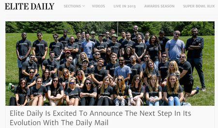 世界トップのオンライン新聞「Mail Online」、若者世代で人気急伸のバイラルメディア「Elite
