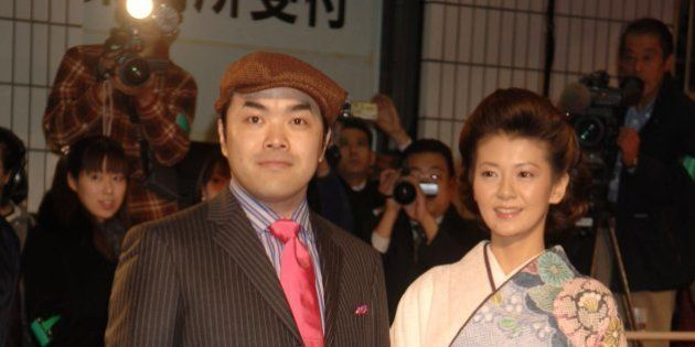 Ken Maeda and Yoko Minamino during 'Memoirs of a Geisha' Tokyo Premiere at Ryogoku Kokugikan Hall in...