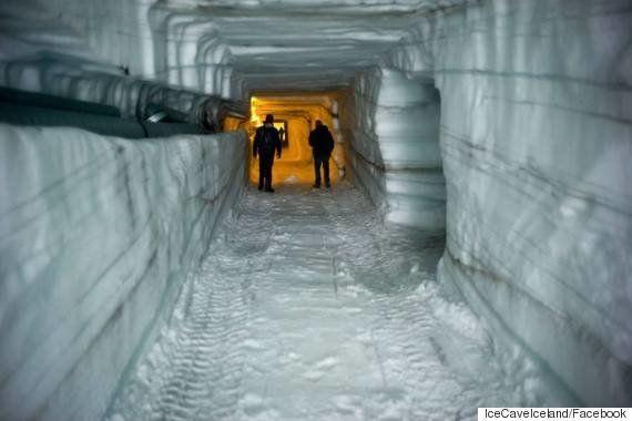 氷河の中へ