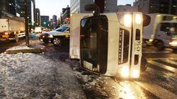 日本海側でドカ雪の恐れ トラックが横転するほどの猛烈な風も