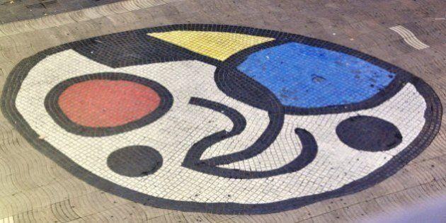 バルセロナ襲撃、巨匠ミロの作品の上で暴走車は止まった