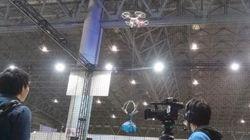 ニコニコ超会議:超ドローンを使ったUFOキャッチャーをやってみた!
