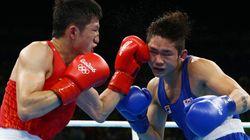 竹島で韓国がボクシングの試合?