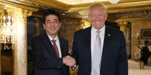 トランプ大統領令に安倍晋三首相は「コメント控える」