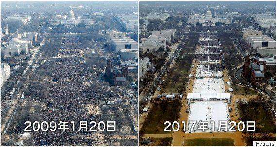 「トランプ大統領のスカスカ就任演説写真はマスコミの捏造」ツイートはデマ