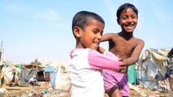 インドのスラムに生きる人たち【画像】