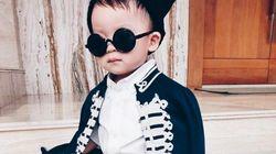 2歳の男の子が、おしゃれだよー。かわいいよー。(画像)