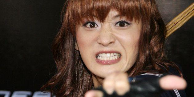 TOKYO - APRIL 16: Comedian Yakkun Sakurazuka attends the World Premiere of 'Spider-Man 3' at the Roppongi...
