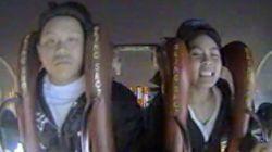 絶叫マシーンに乗った少年の表情がシュールすぎる(動画)