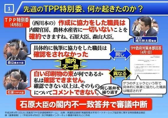 TPP審議を実りあるものにするために