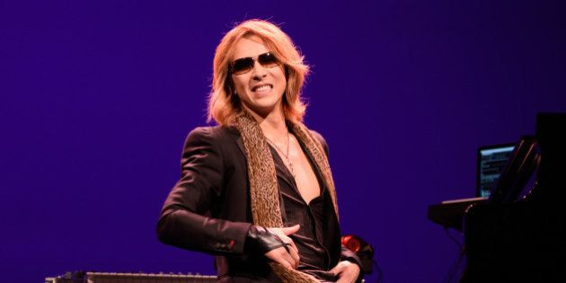AUSTIN, TEXAS - MARCH 18: Yoshiki performs at The Paramount Theatre during SXSW on March 18, 2016 in...