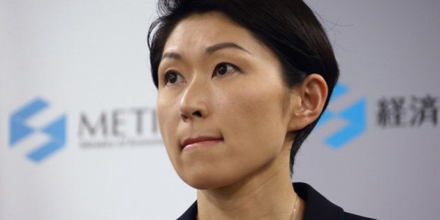 Yuko Obuchi, Japan's economy, trade and industry minister, attends a news conference in Tokyo, Japan,...