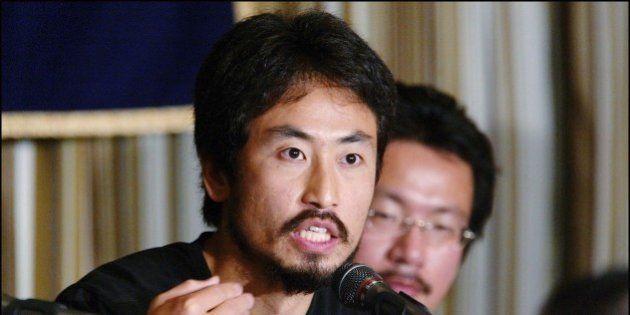 JAPAN - APRIL 27: Freelance Journalist Junpei Yasuda, Left, And Ngo Member Nobutaka Watanabe, Right,...