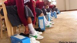 遂にアフリカへ運動靴が到着!