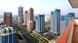 北朝鮮に53階建て高層住宅が完成、工期わずか1年【動画・画像】