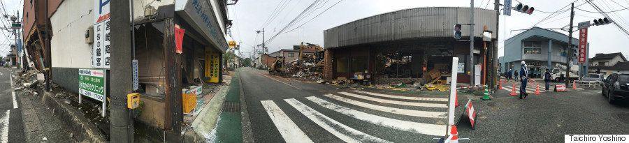 【熊本地震】ルポ・震度7の益城町、1週間後も被害はほぼ手つかず(パノラマ画像)