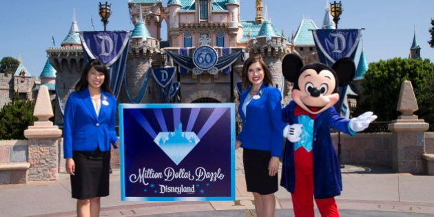 ANAHEIM, CA - JULY 17: In this handout photo provided by Disney parks, MILLION DOLLAR DAZZLE - Mickey...