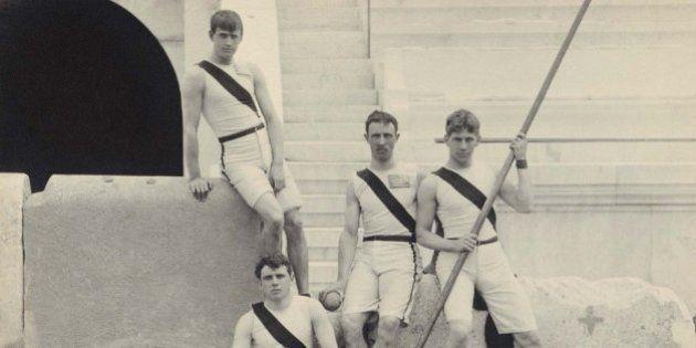 ギリシャで行われた最初の近代オリンピック、1896年の大会が写真で ...