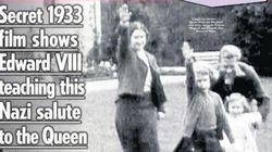 エリザベス女王、幼少期にナチス式敬礼 大衆紙が掲載して物議
