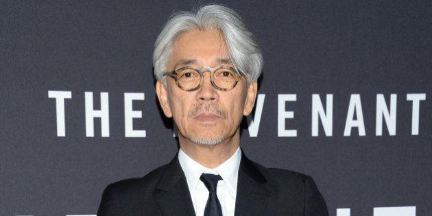 Composer Ryuichi Sakamoto attends the premiere