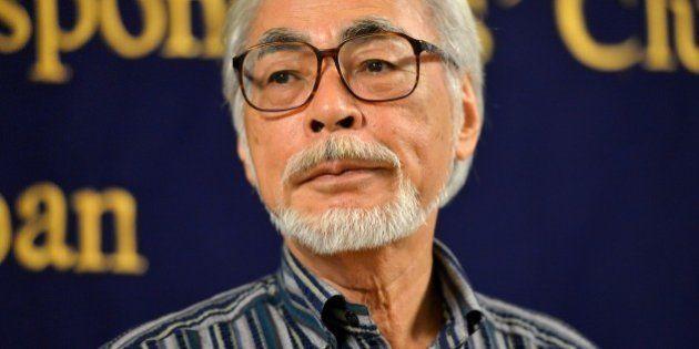 Oscar-winning Japanese animator Hayao Miyazaki speaks to the press in Tokyo on July 13, 2015. Miyazaki...