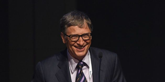 NEW YORK, NY - JUNE 03: Bill Gates speaks during the Forbes' 2015 Philanthropy Summit Awards Dinner on...