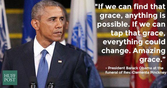 オバマ大統領が「アメイジング・グレイス」