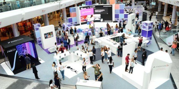 LONDON, ENGLAND - SEPTEMBER 20: Shoppers and 'Hackers' attend a 24 hour Fashion 'Hackathon' to celebrate...