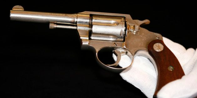 A handgun once owned by notorious